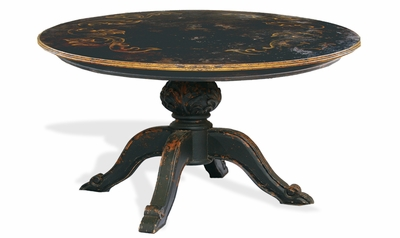 Dining Table Napoleon Black, Baroque with Scrolls