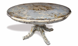 Dining Table Napoleon Celeste, Distressed with Italian Designs