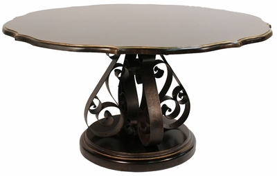Dining Table Tarragona, Black Luxe