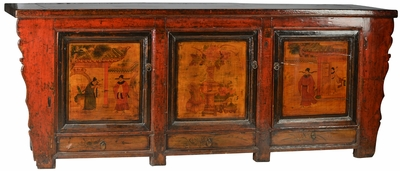 Donatella Antique Large Hand Painted Sideboard