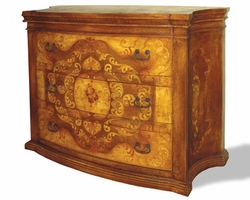 Dresser Patricia Fresco, Brown Crackle & Scrolls