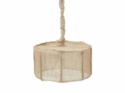 Drum Light in Jute