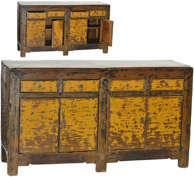 Edda Antique Yellow Sideboard