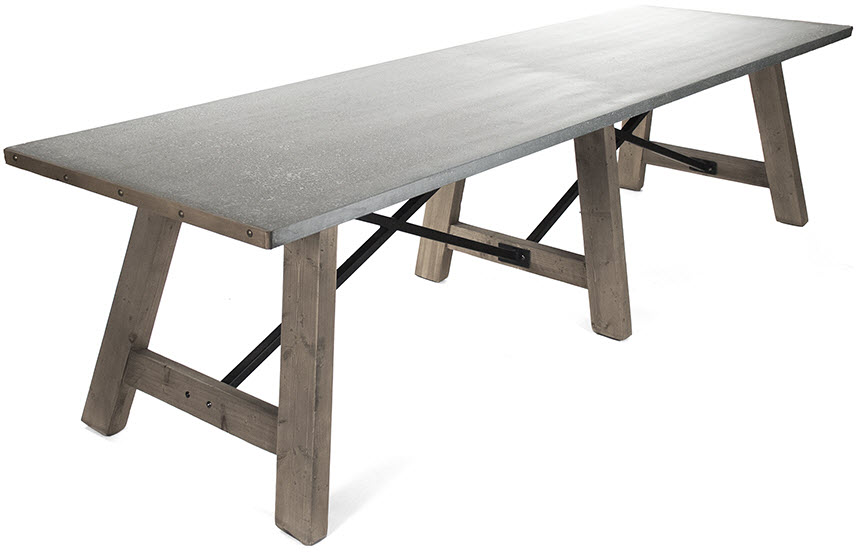 Elbe Dining Table Zinc Top