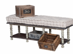 European Farmhouse Storage Bench