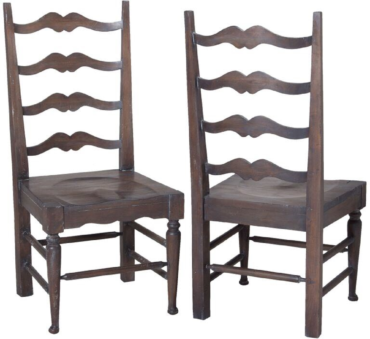 farmhouse ladderback side chair carved dining chairs guildmaster