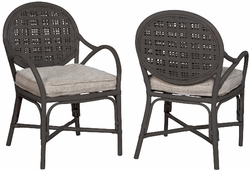 Farmhouse Rattan Arm Chair - one pair
