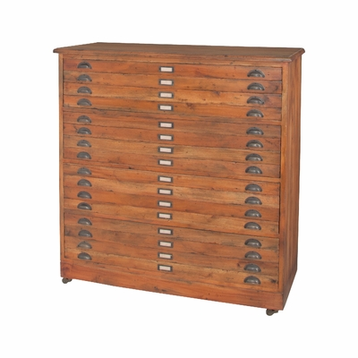 Faux Front Four Drawer Chest
