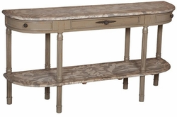 Fluted Demilune Table
