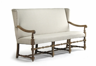 Franck Bench (Beigh Fabric)