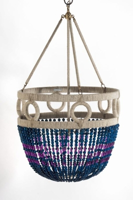 Frankie Tortola Beaded Hanging Chandelier