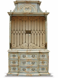 French Country Paris Wrought Iron Bookcase