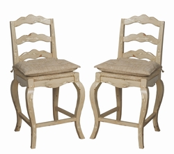 French Provencal Counter Stool - one pair
