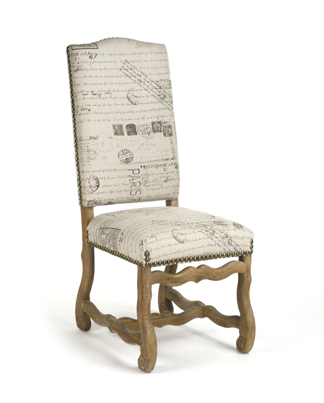 Delmont Side Chair French Script One Pair