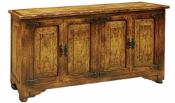 Hand Carved Narrow Sideboard, Tuscany