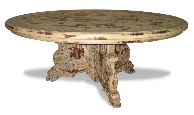 Hand Carved Old World Dining Table