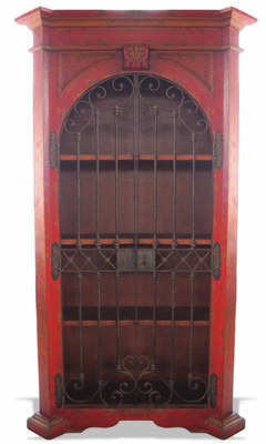 Hand Painted Armoire Raquel, Wrought Iron