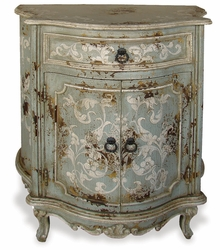 Hand Painted Bombay Chest, Celeste Distressed