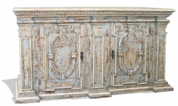 Hand Painted Buffet, Grand Estates Turquoise