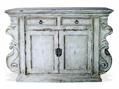 Hand Painted Buffet, Manchester Antiqued White