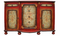 Hand Painted Crackle Buffet, King Lima