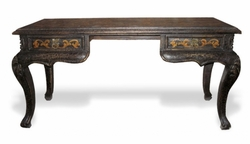 Hand Painted Desk with Carvings