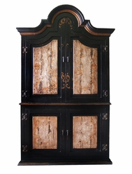 Hand Painted Distressed Armoire Brazil