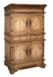 Hand Painted Distressed Armoire Valencia