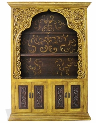 Hand Painted Distressed Bookcase Navarra
