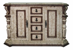 Hand Painted Distressed Buffet, Hebro