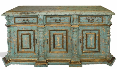 Hand Painted Distressed Buffet, Hebro Especial
