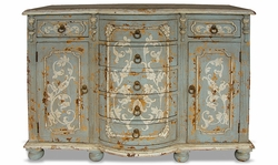 Hand Painted Distressed Buffet, King Lima