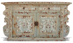 Hand Painted  Distressed Buffet Manchester