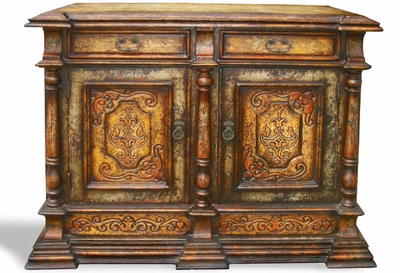 Hand Painted Distressed Buffet Morocco