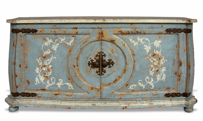 Hand Painted Distressed Buffet, New Orleans
