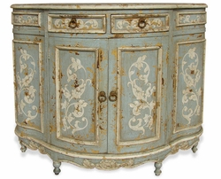 Hand Painted Distressed Console, Santa Rosa