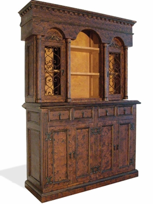 Hand Painted Distressed Hutch Colonial