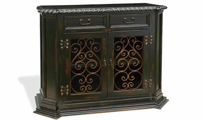 Hand Painted Distressed Old World with Wrought Iron, Virrey