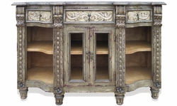 Hand Painted French Sideboard Grey Distressed