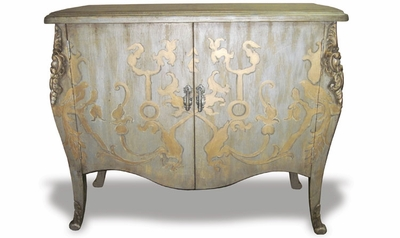 Hand Painted & Hand Carved Curvy Chest