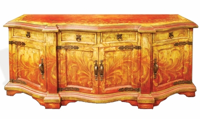 Hand Painted Old World Buffet, Cajamarca