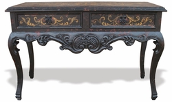 Hand Painted Old World Sofa Table, Melissa
