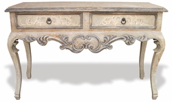 Hand Painted Old World Sofa Table, Melissa Sage