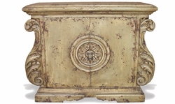 Hand Painted Ornate Chest, Sol Grey