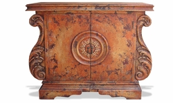 Hand Painted Sideboard Hand Carved Soli