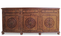 Hand Painted Sideboard, Mocha Hand Carved