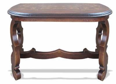 Hand Painted Sofa Table, Crackled Brown