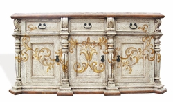 Hand Painted Torched Buffet, Hebro Especial