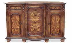Hand Painted Torched Buffet, King Lima