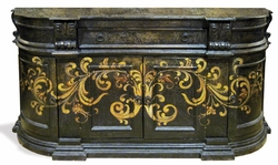 Hand Painted Torched Buffet, Madrid